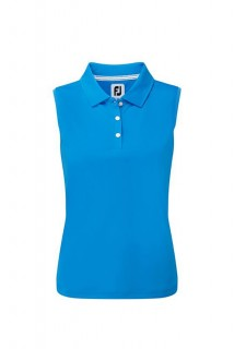 Golfové tričko FootJoy Interlock Sleeveless blue