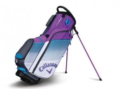 Stand bag Callaway CHEV White/Teal/Violet