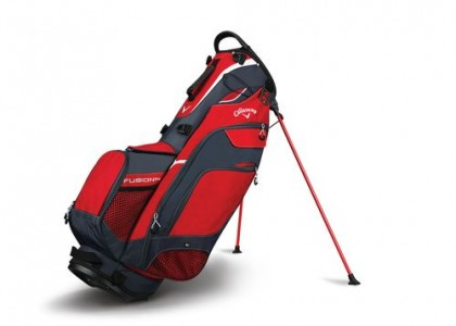 Stand bag Callaway FUSION 14 Red/Titanium/Silver